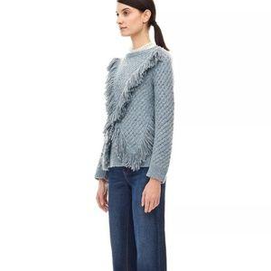 🆕 REBECCA TAYLOR Wool Fringe Pullover in Ballet